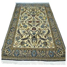 Persian Qum rug with silk - 7.2 x 4.4 - Free shipping