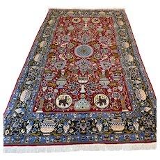 Free shipping - 7.6 x 4.5 Bohemian vase design Oriental rug