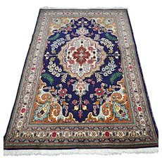 5.6 x 3.6 Luxury blue Oriental rug √ Free shipping
