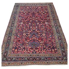 6.4 x 4.4 Antique US Sarouk design Oriental rug √ Free shipping