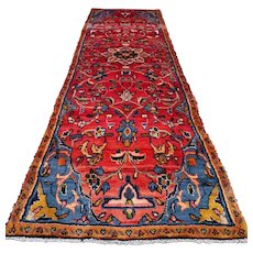 8.9 x 2.6 - Luxury shabby chic  Oriental runner rug √ Free shipping