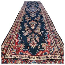 12.8 x 3 - Luxury Dark chic bohemian Oriental runner rug √ Free shipping