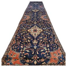 13.8 x 2.6 - Luxury Dark chic bohemian Oriental runner rug √ Free shipping