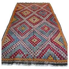 9.5 x 5.4 Caucasian Kazak flatweave Kelim Kilim rug √ Free shipping