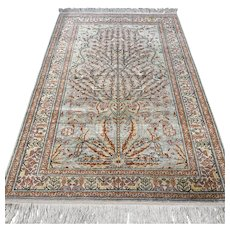 5.9 x 3.9 Silk Anatolian Kayseri rug √ Free shipping