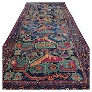14.1 x 6.4 Superb antique collectible Karabagh Kazak rug √ Free shipping