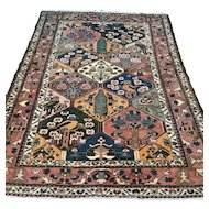 7 x 5.1 Antique bohemian tile design Oriental rug √ Free shipping