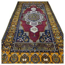 7.8 x 3.9 Bohemian Anatolian YahYali Oriental rug √ Free shipping