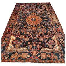 9.4 x 5.3 - Vintage antique bohemian Oriental rug √ Free shipping
