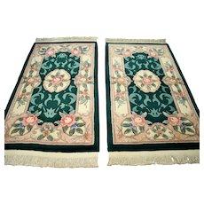4.1 x 2.3 Luxury unused Chinese rug set √ Free shipping