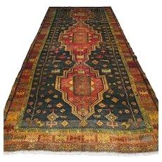 11 x 5 Vintage antique dark Bohemian Oriental rug √ Free shipping