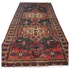 Free shipping - 10.2 x 5.2 Large vintage tribal bohemian Oriental rug