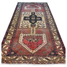 Free shipping - 9.2 x 4.8 Vintage tribal bohemian Oriental rug