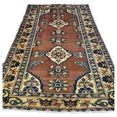 Free shipping - 8.2 x 5.2 Vintage art deco bohemian Oriental rug