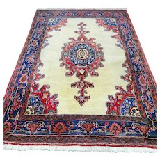 7.3 x 5 Light tribal Kurdish Oriental rug √ Free shipping