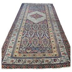 8 x 4 - Antique 1850s boteh Kazak Oriental rug √ Free shipping