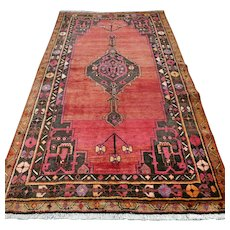 8.2 x 4.5 Vintage Antique Tribal Kurdish Oriental rug √ Free shipping