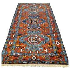Free shipping - 7.5 x 4.1 Colorful Caucasian Kazak Oriental rug