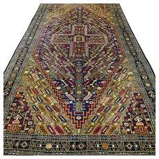 7.2 x 3.8 Special green bohemian Oriental rug √ Free shipping