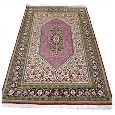 5.4 x 3.6 Luxury pink bohemian Oriental rug √ Free shipping