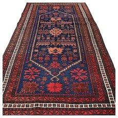 Free shipping - 6.2 x 3.5 Tribal Anatolian Kazak Oriental rug - Red Tag Sale Item
