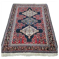 5 x 3.8 Vintage antique tribal bohemian rug √ Free shipping