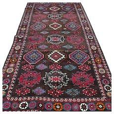 Free shipping - 6.6 x 3.4 Dark Caucasian Karabakh Kazak Oriental rug