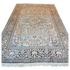 Free shipping - 9.2 x 5.9 Luxury silk Kashmir Oriental rug