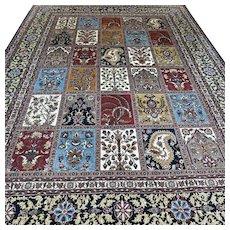 Free shipping - 11.5 x 8.1 Luxury oversized tile design Oriental rug