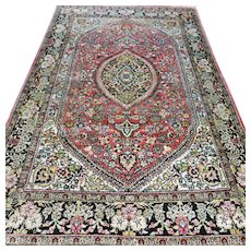 Free shipping - 5.1 x 3.4 Luxury Bohemian silk rug - collectors rug