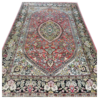 Free shipping - 5.1 x 3.4 Luxury Bohemian silk rug - collectors rug