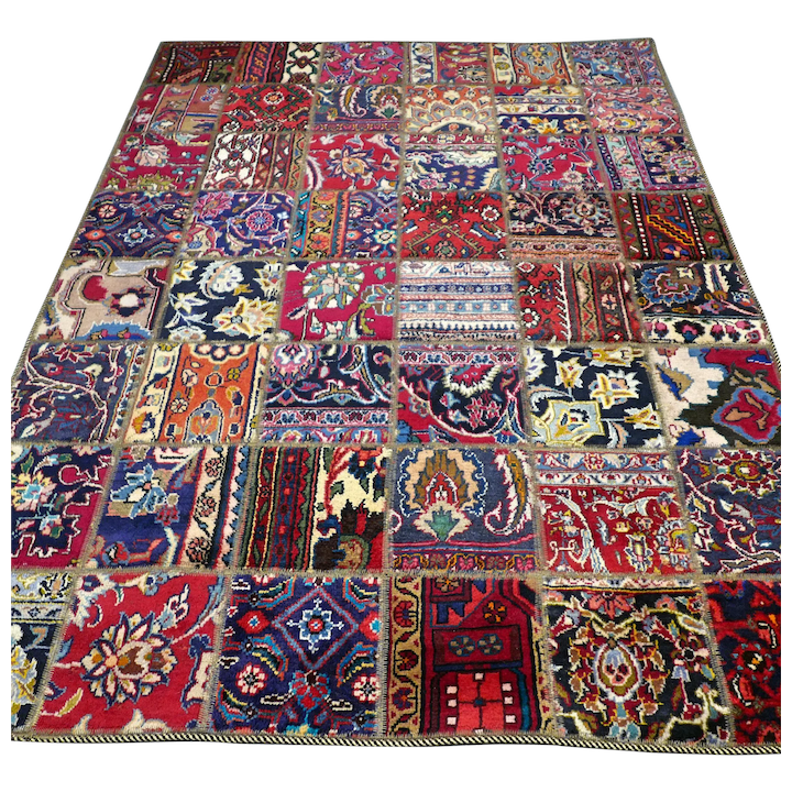 6 X 4 9 Colorful Bohemian Patchwork Oriental Rug Free Shipping