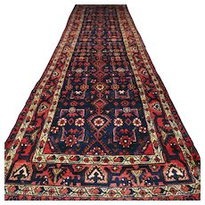 Free shipping - 135 x 3.4 Large tribal Kurdish Oriental runner rug √ CLEAN AS NEW