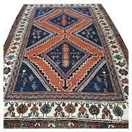 5.6 x 3.8 Vintage antique bohemian Kazak rug √ Free shipping