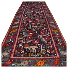 10.3 x 3.8 Special design flower bohemian Oriental rug √ Free shipping