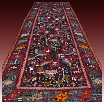 10.3 x 3.8 Special design flower bohemian Oriental Persian rug √ Free shipping