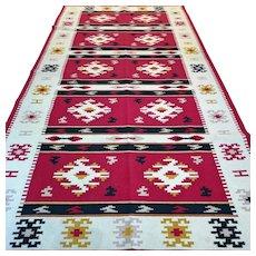 10.2 x 4.1 XL Colorful tribal flatweave Kelim √ Free shipping