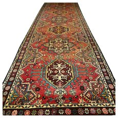 Free shipping - 14.5 x 3.4 Extra long premium Oriental Persian runner √ CLEAN AS NEW