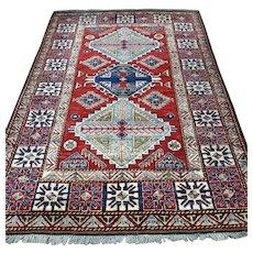 6.9 x 4.8 Afghan Kazak Oriental rug √ Free shipping