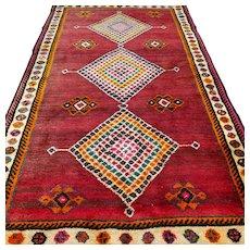 6.4 x 3.8 Tribal Gabbeh Oriental rug √ Free shipping