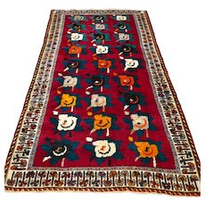 Free shipping - 7 x 4 Special roses tribal Gabbeh Oriental rug
