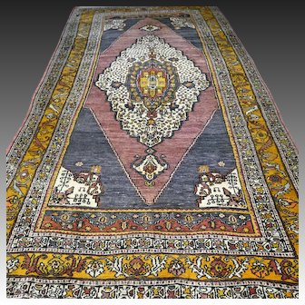 9.8 x 5.2 Antique Anatolian Bergama rug √ Free shipping
