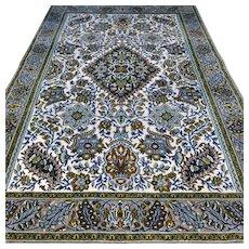 6.9 x 4.7 Luxury design Oriental rug with silk √ Free shipping