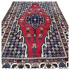 6.4 x 4.3 Vintage Kurdish Oriental rug √ Free shipping