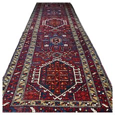 Free shipping - 10.5 x 3.3 Vintage antique bohemian runner - early 1900s