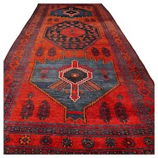 10.5 x 4.8 Vintage antique  Kazak Oriental runner √ Free shipping