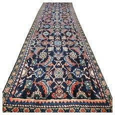 Free shipping -  9.2 x 2.3 Luxury dark Bohemian  runner rug √ CLEAN AS NEW
