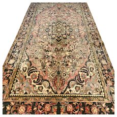 Free shipping - 9.7 x 5 Vintage art deco bohemian Oriental rug √ CLEANED