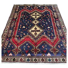 4.6 x 3.7 Antique tribal Kazak rug √ Free shipping