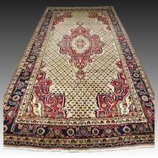 10.3 x 5.2 Luxury art deco Oriental rug √ Free shipping